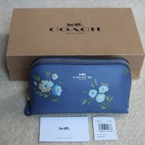 Coach Tossed Daisy Cosmetic Case - Dark Periwinkle